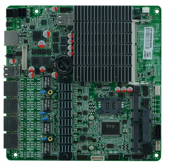 Bay Trial SOC Platform Dual Core j1800 Fanless Mini ITX 4 Ethernet LAN Ports Motherboard pre trial detention
