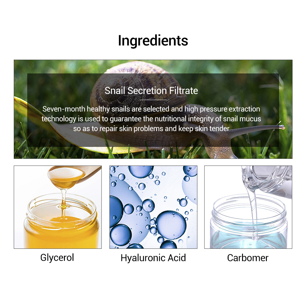 LANBENA Hyaluronic Acid Serum Snail Essence Face Cream Acne Moisturizing Treatment Skin Care Repair Whitening AntiAnging Winkles in Serum from Beauty Health