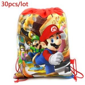 30 шт./лот, украшение для мальчиков, рюкзак для вечеринки, Супер Марио, украшение для торта на день рождения на тему «лошадки карусели», подаро...