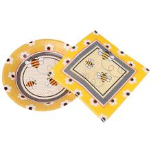 20pcs Disposable Paper Bee Napkins 10pcs Plates Birthday Party TablewareChina