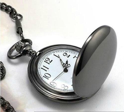 3a47fb897bf KANISHI Clássica 4.5 cm Tamanho Polonês Prata Homens De Quartzo Relógio de  Bolso Colar Relógio De