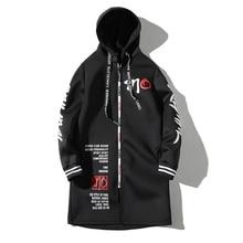 Winter Jacket Men Long Coat Zipper Windproof Slim Windbreaker Autumn Plus Size 3XL Hip Hop Clothes Streetwear Jaqueta Masculino