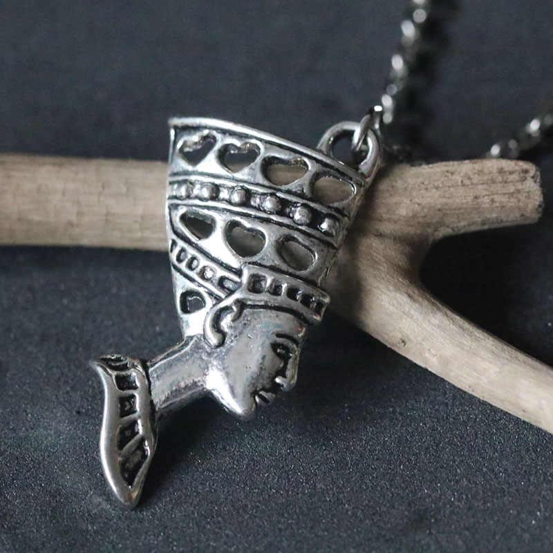 Neue Mode Ägyptischen Königin Nofretete Halsketten Schmuck Geschenk Anhänger Kette Halskette Frauen Halsband Collares Wicca Pagan Charme