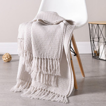 Smart Electronics 1x Weave Blankets Fringed Sofa Bed Cover Baby Soft Throw Cotton Rug Slipcover Weave Blanket Outstanding Features Home Automation Modules