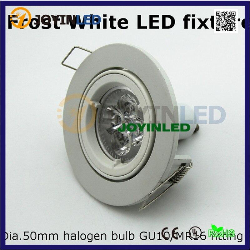 aluminare white spot light lamp spotlight gu10 mr16 fitting fixture frame led gu10 ceiling lamp. Black Bedroom Furniture Sets. Home Design Ideas