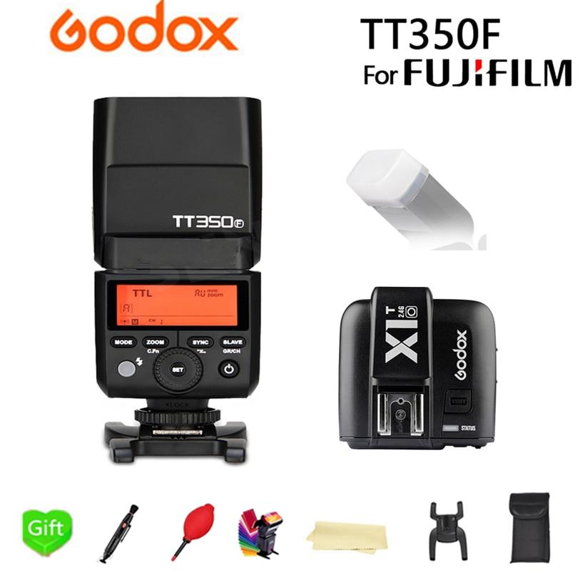Flash da Câmera Flash para Fuji Câmera de Filme Transmissor + Presente Fuji + X1t-f Godox Ttl Velocidadelite Gatilho Tt350f Tt350 Gn36 2.4g