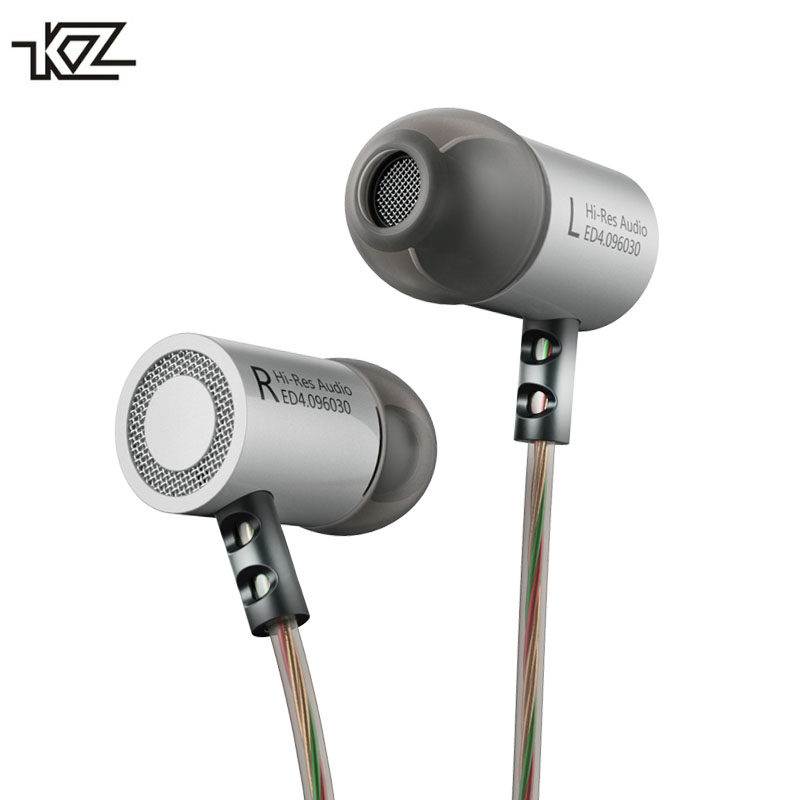 KZ ED4 Metal Stereo Earphone Noise Isolating In ear Earbuds with Microphone Heavy Bass HiFi Headsets for Mobile Phone MP3 MP4 kz ed4 in ear earphone metal stereo music earbuds 3 5mm wired earphone noise isolating quality headset for mobile phone mp3 mp4