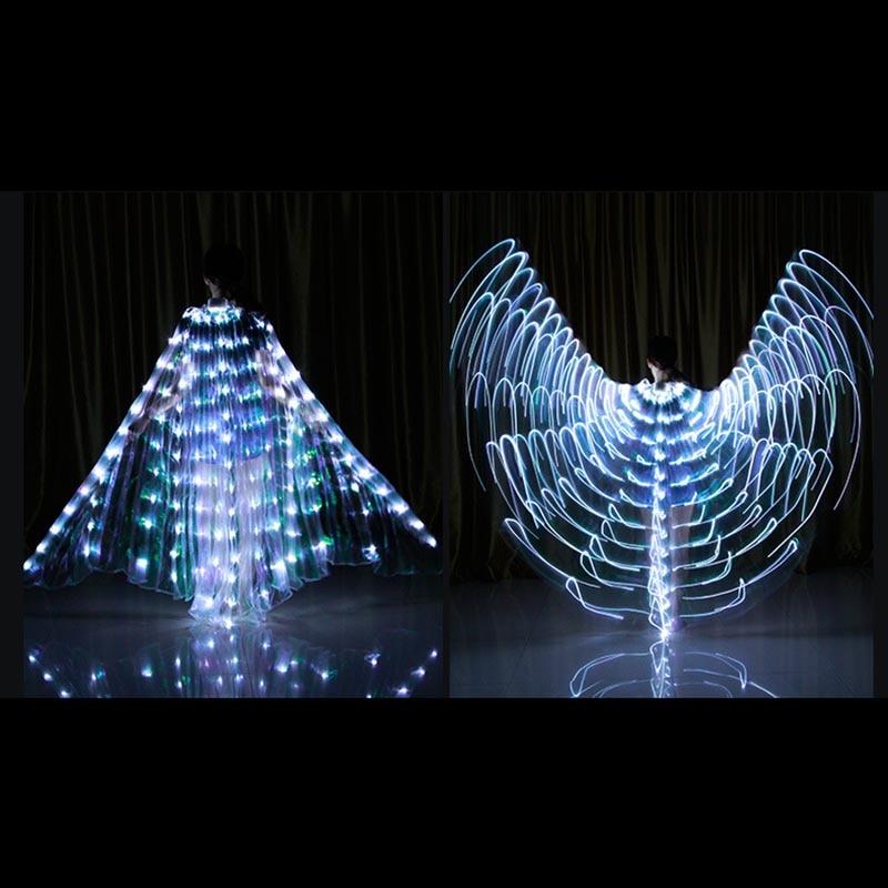 Танец светодио дный крыльями загорится костюмы на Хэллоуин сцены Костюмы для взрослых E2S