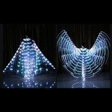 เต้นรำLED Wings Light UpฮาโลวีนStageเสื้อผ้าสำหรับผู้ใหญ่E2S