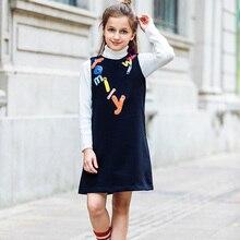 Фотография Vestidos Princess Dress 2017 Casual Girls Autumn Dress Letters Appliques Children Clothing Vetement Enfant Fille Birthday Dress