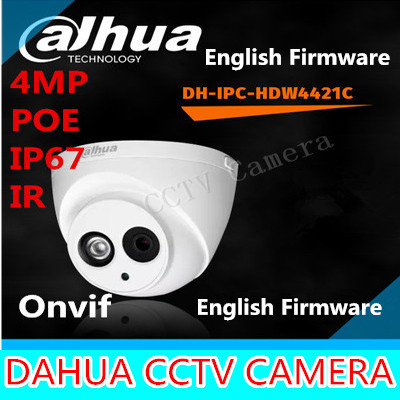 Dahua IPC-HDW4421C IR IP Camera 4MP Full HD Network IR security cctv DH-IPC-HDW4421C Dome Camera Support POE ipc hfw4231d as dahua cctv security ip camera 3 6mm lens 4mp full hd bullet network camera ip66 with poe