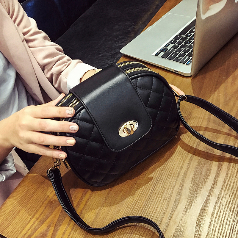 Bags Women Leather Handbags Chain Small Women Messenger Bag Candy Color Women Shoulder Bag Party Lock Purse