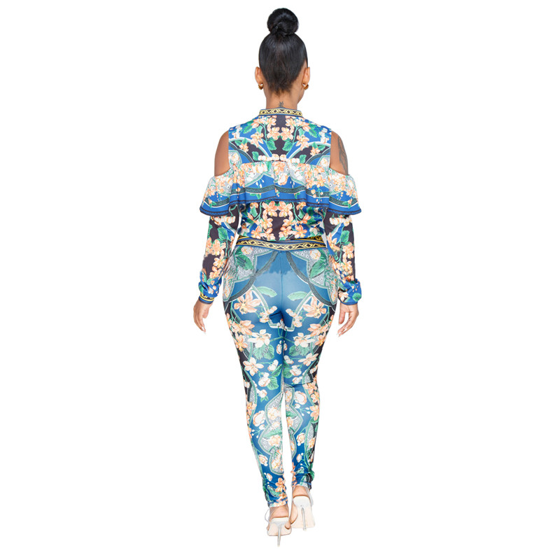 African Print Dresses For Women Dashiki Traditional African Two Piece Set Print Tracksuit Bazin Tops Pants Clothing Female Suit (4)