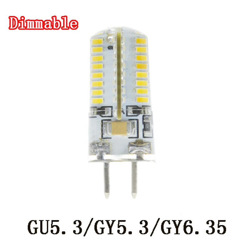 5x Dimmable GU5.3 GY5.3 GY6.35 6w 64LED Bulb 220V Warm White/Cool ...