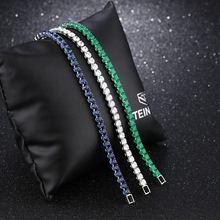 Модные белые зеленые синие браслеты cubiec с кристаллами из