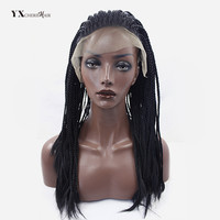 Senegalese Twist Lace Front Wigs For Women Synthetic Black And Brown Natural Color 18 Inch 400