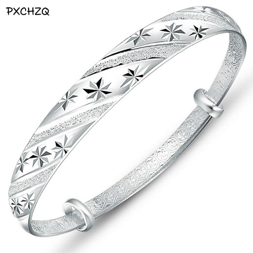 Fashion silver Colour jewelry meteor shower sliding ring 999 female models fine bracelet bracelet wholesale