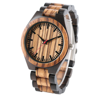 Vintage Wooden Watch Men Dapple Pattern Bamboo Quartz Watch Natural Wood Creative Sport Fashion Dress Wristwatch Clock Male Gift