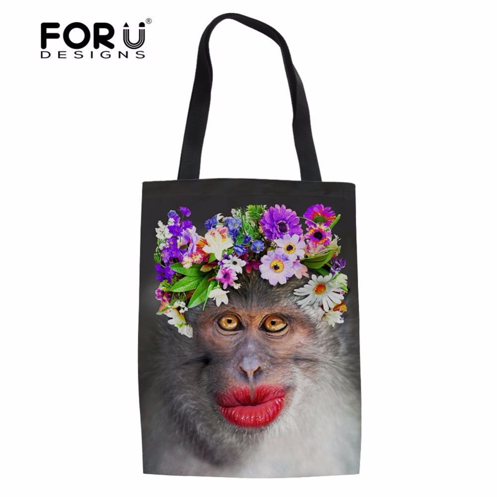 Campcookingsupplies Sports & Entertainment Instantarts Red Lip Monkey Pattern Hiking Camping Picnic Bags Waterproof Neoprene Food Storage Bags Lunch Tote Handbag For Women Beautiful In Colour