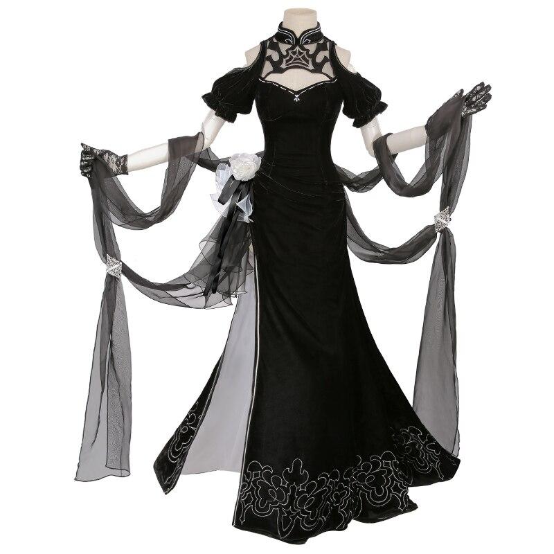 Здесь продается  HOT Game NieR: Automata YoRHa No.2 Type B Women Uniforms 2B Cosplay Costume Chinese Cheongsam  Halloween Carnival Free shipping  Одежда и аксессуары