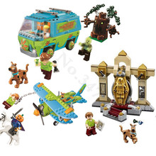 The Mystery Machine Scooby Doo Fred Shaggy Zombie Zeke Mini toys building blocks Compatible with Legoings