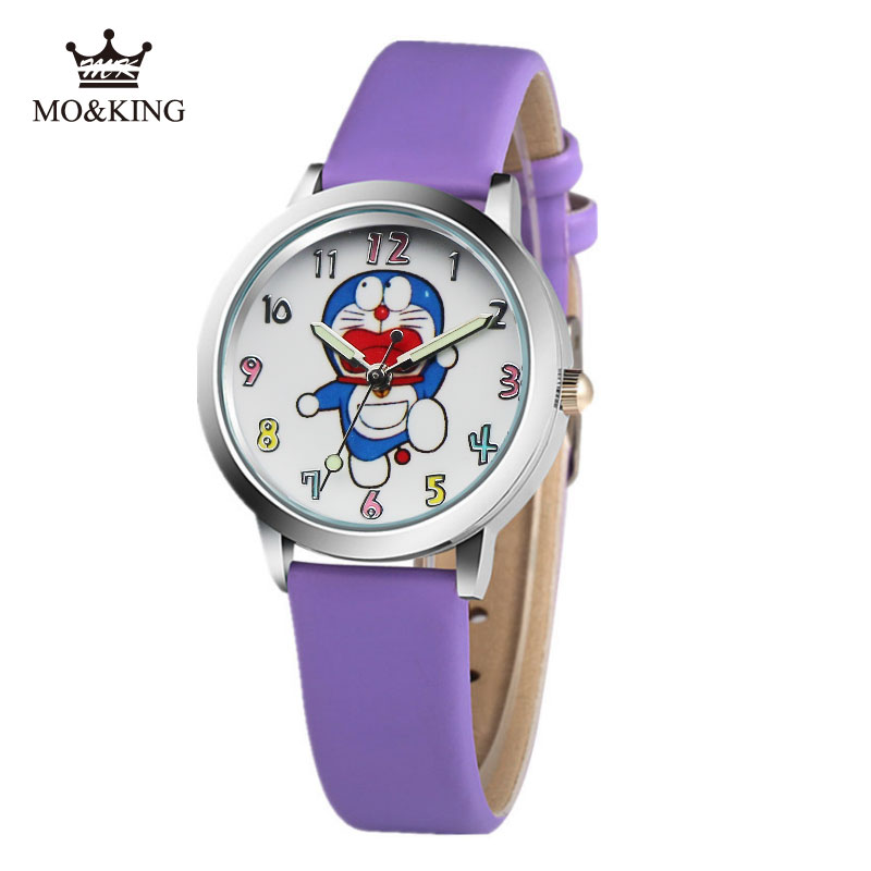 Children's watch boys and girls cartoon Doraemon tinkling cat primary and middle school students waterproof quartz watch cute