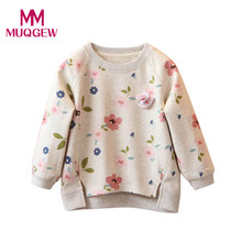 Fashion New Toddler Kids Baby Girls Floral Printing Long Sleeve T-Shirt Warm Tops Autumn T-Shirts Clothes(China)