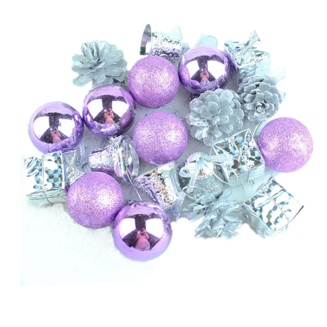 Purple Balls For Decoration Amazing 20 Pcs 5 Kinds Christmas Decorations Light Purple And Silver Tree 2018