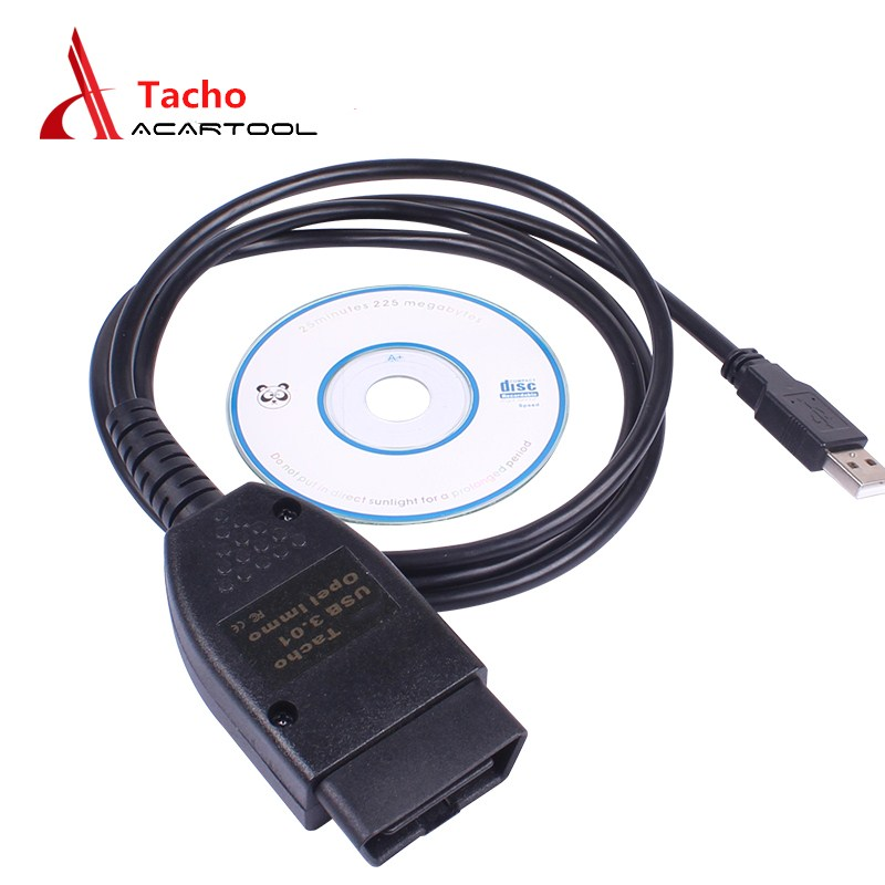 For Vag Tacho Cable USB Tacho 3.01+ For Opel Immo Airbag EEPROM PIN Reader Mileage Correction Code Reader OBD2 Diagnostic Cable