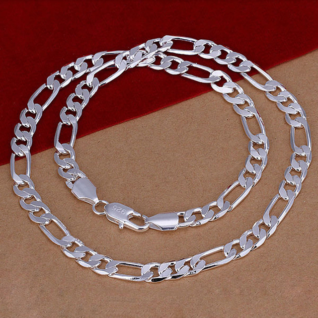 fb5e712d83f11 US $4.45 |Vogue Men Necklaces Fashionable Silver 8 MM Wide 20 Inches Link  Chains Man Male Necklace Jewelry Boyfriends Party Gifts YNS06-in Chain ...