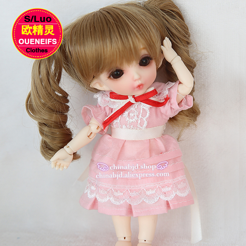 OUENEIFS pink skirts, baby dresses,1/8  bjd sd doll clothes, YF8-11, have not doll or wig oueneifs bjd clothe sd doll 1 4 clothes girl boy baby long hooded jumpsuit hyoma chuzzl send socks luts volks iplehouse switch