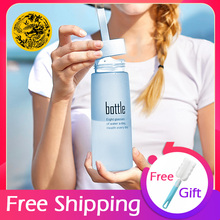 2019 Water Bottle Safety Plastic Sport Scrub Leak Proof Drinking My Bottle for water Portable Fashion Lovers bottle Bpa Free drinking safety of water resources