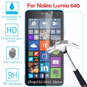 Tempered Glass for Microsoft Lumia 640 LTE Dual SIM 5.0 9 H Screen Protector Protective Glass Film for Nokia Lumia 640 5.0 inch