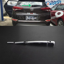 цена на Car Accessories Exterior Decoration ABS Chrome Rear Window Wiper Noozle Cover Trim For Hyundai Tucson 2015 Car-styling