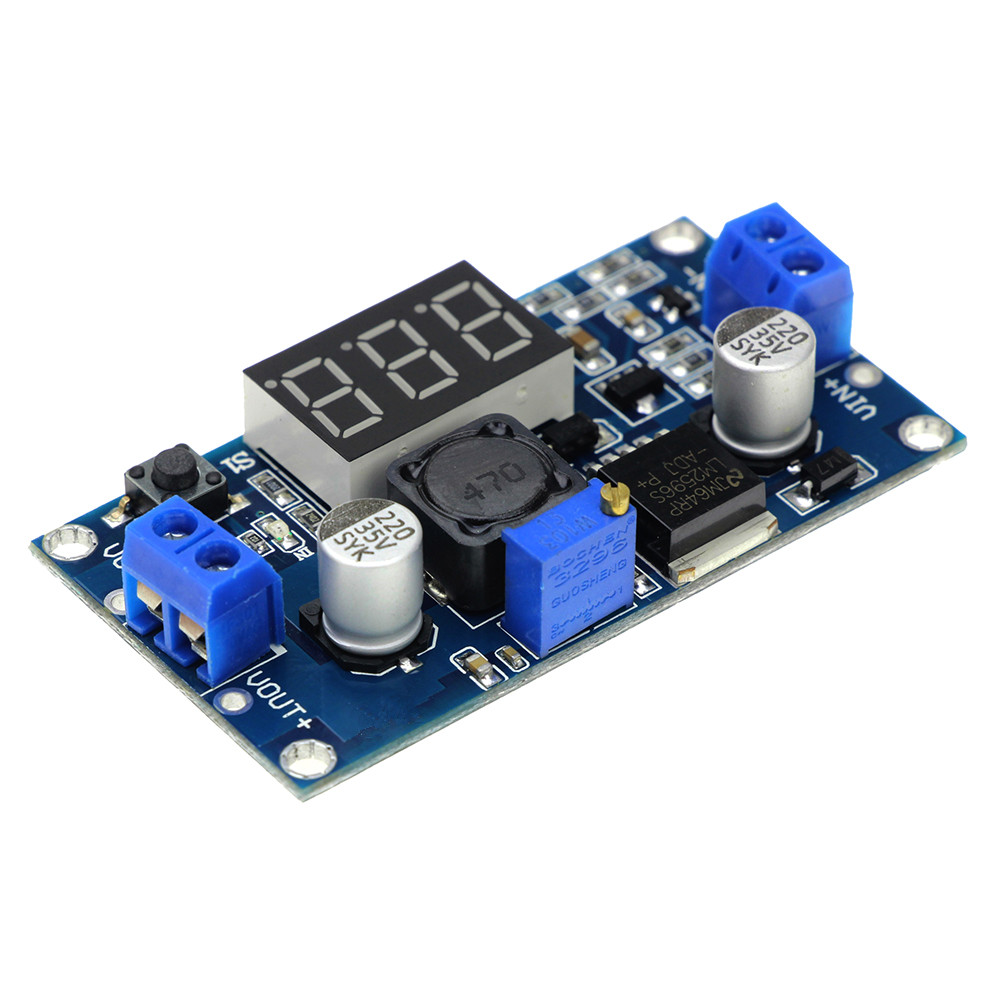LM2596 LM2596S Power Module + LED Voltmeter DC-DC Adjustable Step-down Power Supply Module with Digital Display