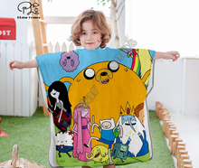 Cartoon adventure time funny Hooded baby Boys and Girls Towel Wearable Bath Towel For Kids Travel 3D print Beach Towels style-7 molly moon s hypnotic time travel adventure