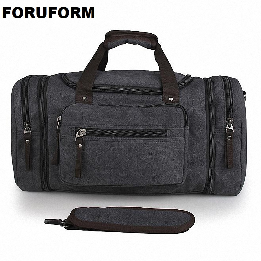 Vintage Canvas Men Travel Bags Women Weekend Carry On Luggage Bags Leisure Duffle Bag Large Capacity Tote Business Bolso LI-1625 цена
