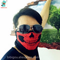 BIBIGOU Party Masks Halloween Red Skull Skeleton Motorcycle Multi Function Headwear Hat Scarf Neck Sport Winter Mask