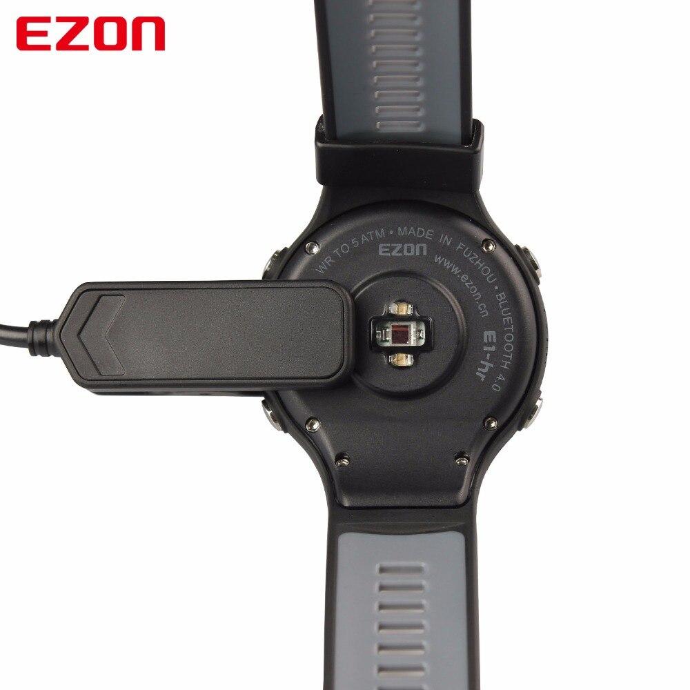 Montre de Sport numérique pour hommes montre de course GPS intelligente avec fréquence cardiaque à base de poignet 50 mètres étanche pour IOS Android EZON T907 HR-in Montres sport from Montres    3