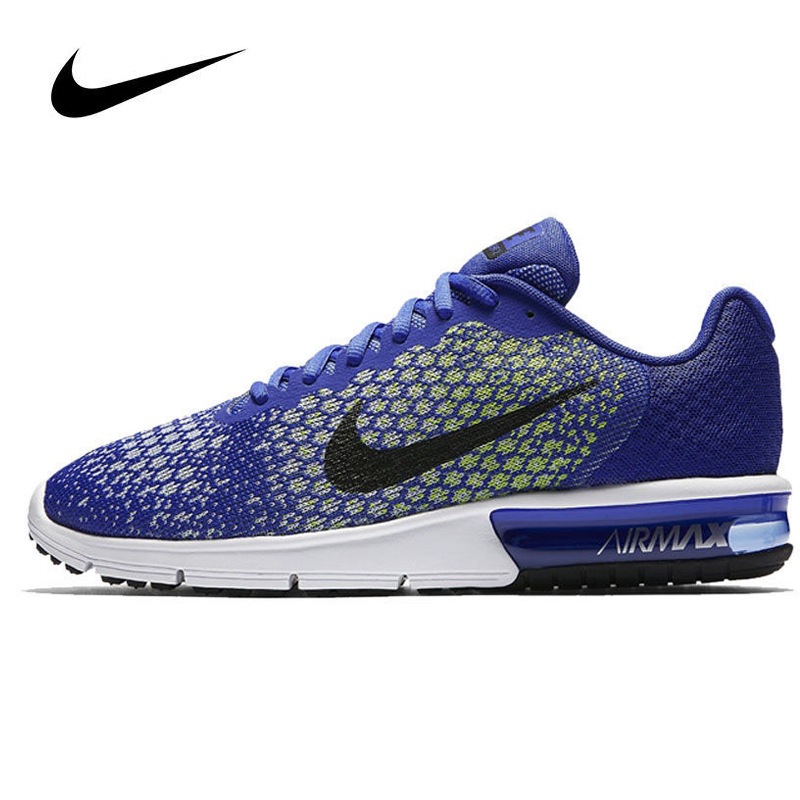 NIKE Original Authentic Spring AIR MAX SEQUENT 2 Women's Running Shoes Sneakers Sports Outdoor Walking Jogging Athletic 852465