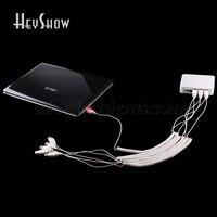 4 6 8 10 ports Laptop Security Alarm System PC Anti theft Display Box Notebook Computer Burglar Alarm For Mobile Shop Exhibition