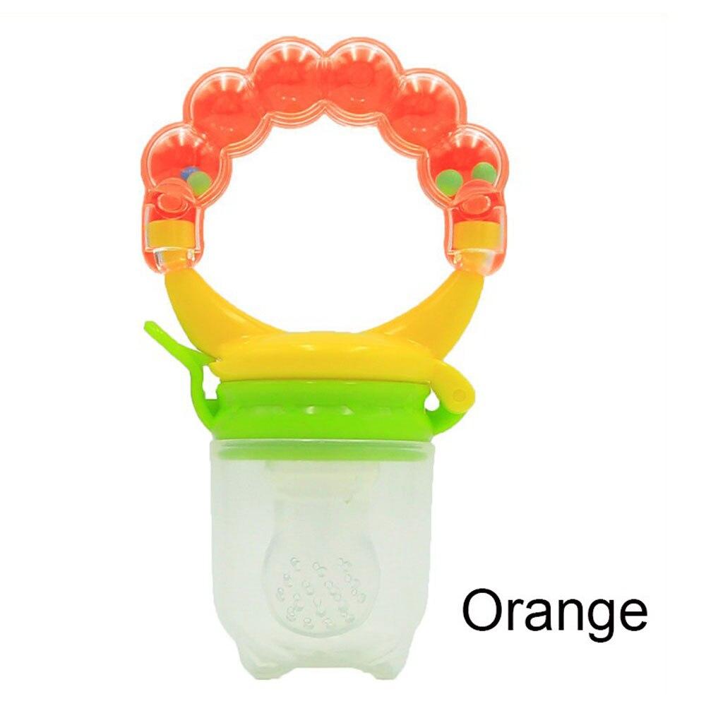 Детская силиконовая соска, соска для малышей, прищепка для соски, рукопожатие, красный/зеленый/оранжевый - Цвет: orange