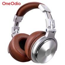 Oneodio auriculares con cable para DJ, para estudio profesional, auriculares estéreo por encima de la oreja con micrófono para teléfono móvil y ordenador