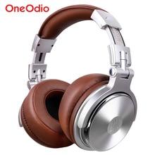 Oneodio dj fones de ouvido estúdio profissional pro monitor fone de ouvido com fio sobre a orelha estéreo com microfone para o telefone móvel computador