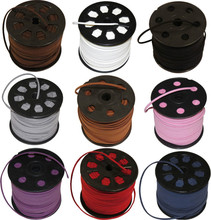 90 meters Faux Suede Flat Leather Cord Lace String 3mm