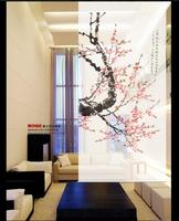 New Chinese Style Hanging Screen Soft Cut Entrance Shutter Door Curtain Creative Roller Biombo A Plum