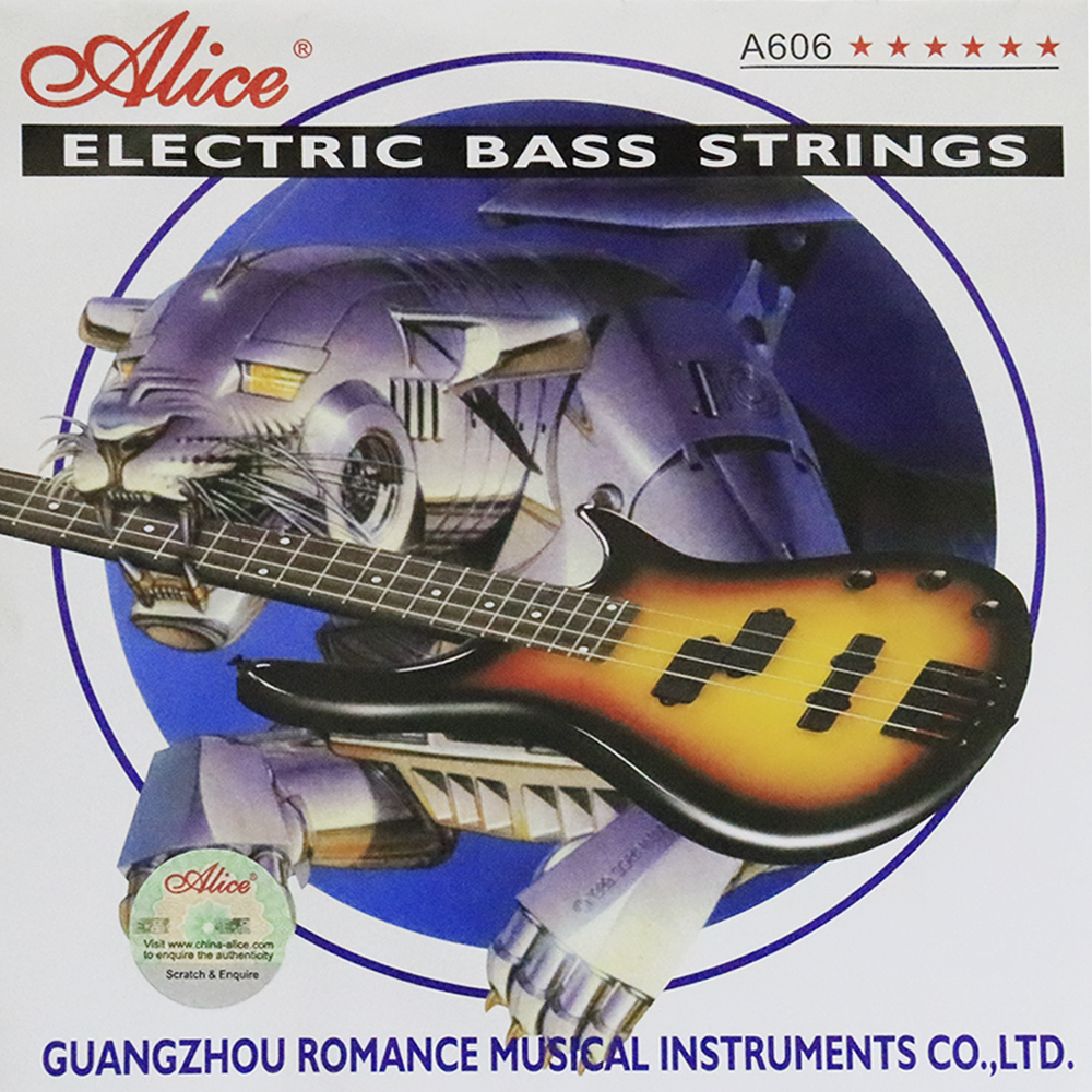 Alice A606 Electric Bass Strings Steel Core Nickel Alloy Wound 4 Strings rotosound rs66lc bass strings stainless steel