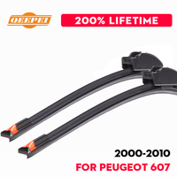 QEEPEI Replace Wiper Blade For Peugeot 607 2000 2010 Silicone Rubber Windshield Windscreen Wiper Auto Car Accessories