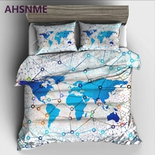 Buy world map bedding and get free shipping on aliexpress ahsnme sci fi world map bedding set high definition print quilt cover for ru gumiabroncs Image collections