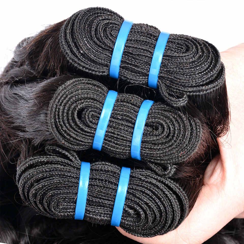 Волна воды пучки бразильских локонов Iwish волос Плетение 28 дюймов человеческих волос 1 или 3 пучка s или 4 пучка предложения не Remy Haar расширение